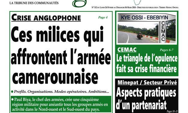 Cameroun: Journal Intégration parution n°312 du Lundi 26 Février 2018