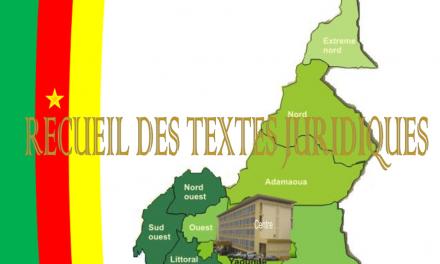 Cameroun: recueil des textes juridiques du MINATD