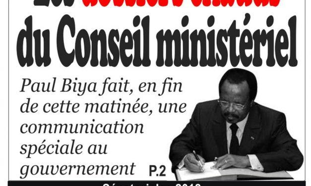 Cameroun: journal Infomatin parution du 15 mars 2018