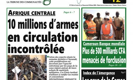 Cameroun: journal Intégration parution du lundi 12 mars 2018