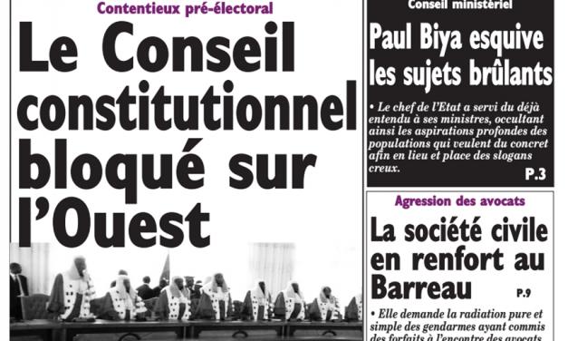 Cameroun: journal Le Messager parution du 16 mars 2018