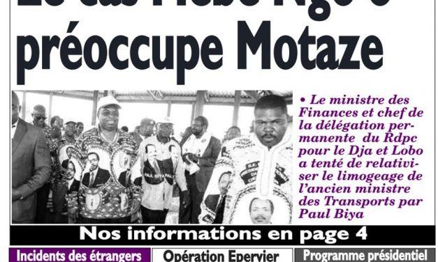 Cameroun: journal Le Messager parution du 15 mars 2018