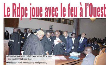 Cameroun: journal Mutation parution du 16 mars 2018