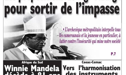 Cameroun : journal Le Messager, parution du 03 Avril 2018