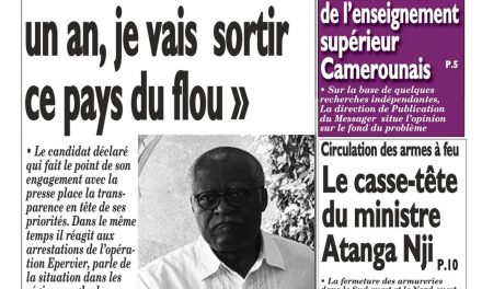 Cameroun : journal Le Messager, parution du 02 Avril 2018
