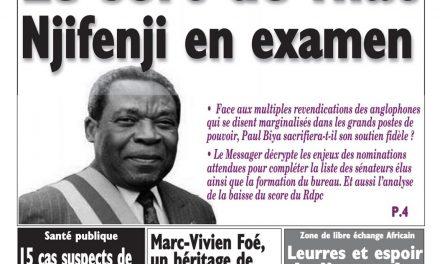 Cameroun : journal Le Messager, parution du 10 Avril 2018