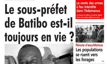 Cameroun : journal L'œil du Sahel, parution du 06 Avril 2018