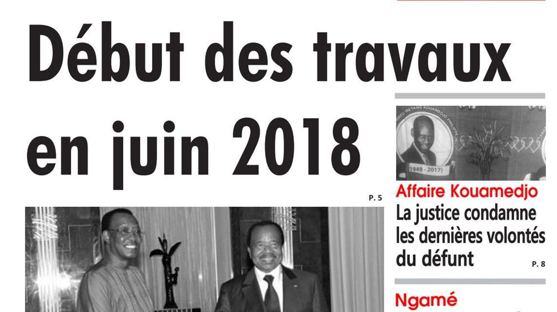 Cameroun : journal L'œil du Sahel, parution du 18 Avril 2018