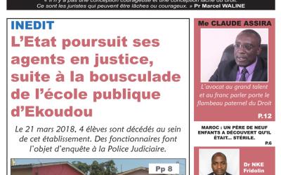 Cameroun: journal camerlex parution du lundi 07 mai 2018