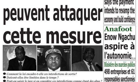 Cameroun : journal Emergence, parution du 10 Avril 2018