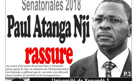 Cameroun : journal InfoMatin, parution du 26 Mars 2018