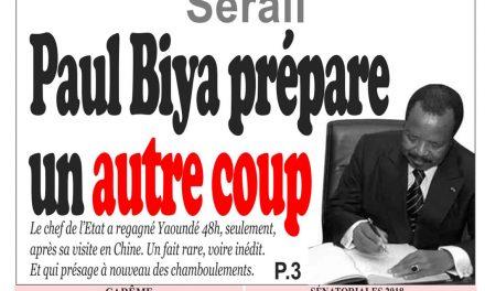 Cameroun : journal InfoMatin, parution du 23 Mars 2018