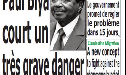 Cameroun : Journal quotidien émergence parution 12 septembre