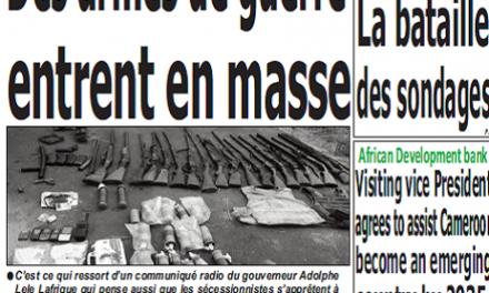 Cameroun : Journal quotidien émergence parution 18 septembre 2018