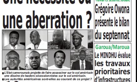 Cameroun : Journal Quotidien émergence parution 21 septembre 2018