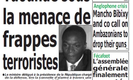 Cameroun : Journal quotidien émergence parution 24 septembre 2018