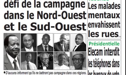 Cameroun : Journal Quotidien émergence parution 26 septembre 2018