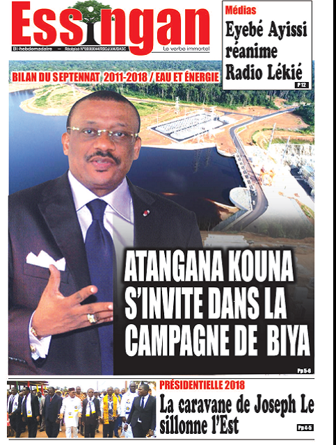 Cameroun : Journal ESSINGAN parution 20 septembre 2018