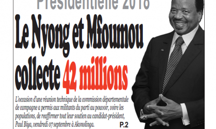 Cameroun : Journal infomatin quotidien parution 11 septembre 2018