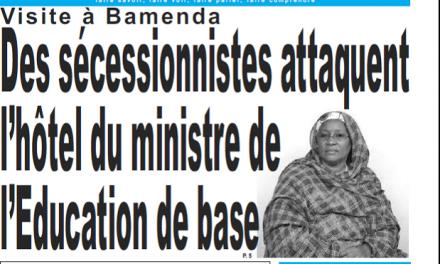 Cameroun : Journal Jour parution 05 septembre 2018