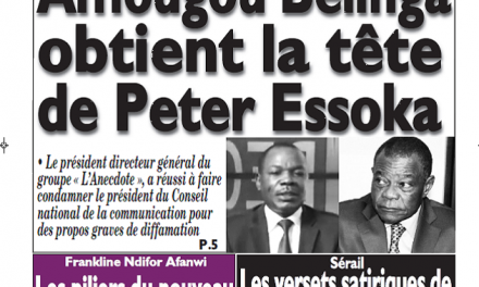 Cameroun : Journal messager parution 05 septembre 2018