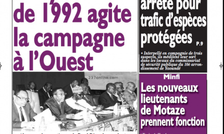 Cameroun : Journal Le messager parution 26 septembre 2018