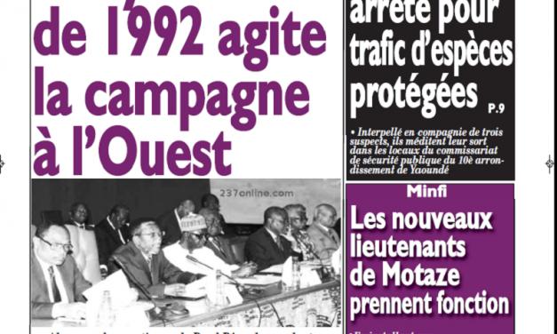 Cameroun : Journal le messager parution 27 septembre 2018