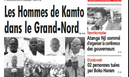 Cameroun : Journal sahel parution 05 septembre 2018