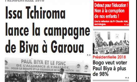 Cameroun : Journal L'œil du  Sahel parution 11 septembre 2018