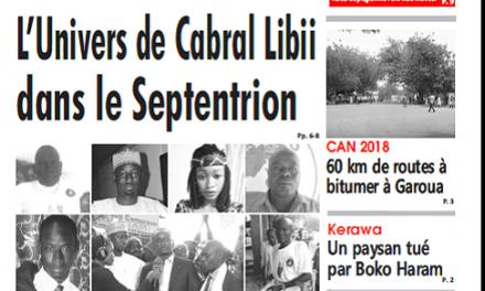 Cameroun : Journal l'œil du Sahel parution 21 septembre 2018