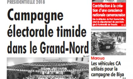 Cameroun : L'œil du Sahel parution 24 septembre 2018