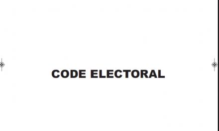 Cameroun : Cameroun Code électoral