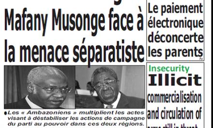 Cameroun : Journal quotidien émergence parution 5 octobre 2018