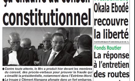 Cameroun : Journal Quotidien émergence parution 17 octobre 2018