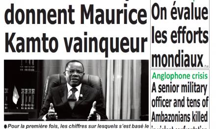 Cameroun : Journal Quotidien émergence parution 24 octobre 2018