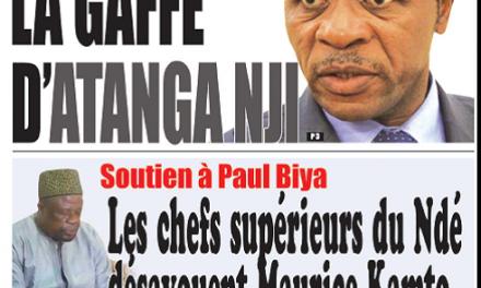Cameroun : Journal Essingan parution 11 octobre 2018