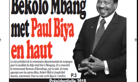 Cameroun : Journal infomatin quotidien  parution 4 octobre 2018