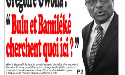 Cameroun : Journal Infomatin parution 18 octobre 2018
