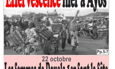 Cameroun : Journal Infomatin parution 23 octobre 2018