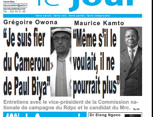 Cameroun : Journal le journal parution 04 octobre 2018