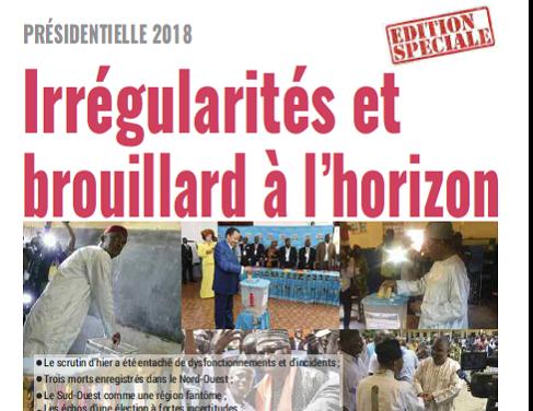 Cameroun : Journal mutations quotidien parution 08 septembre 2018