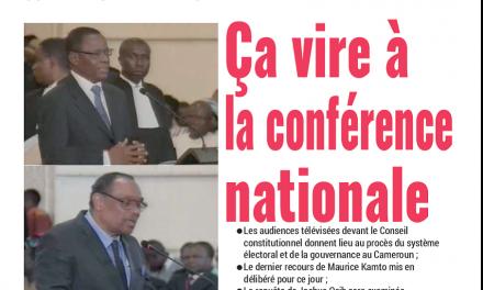 Cameroun : Journal Mutations parution 18 octobre 2018