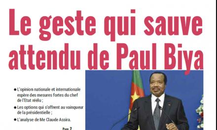 Cameroun : Journal Mutations parution 29 octobre 2018