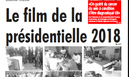 Cameroun : Journal l'œil du sahel parution 08 septembre 2018