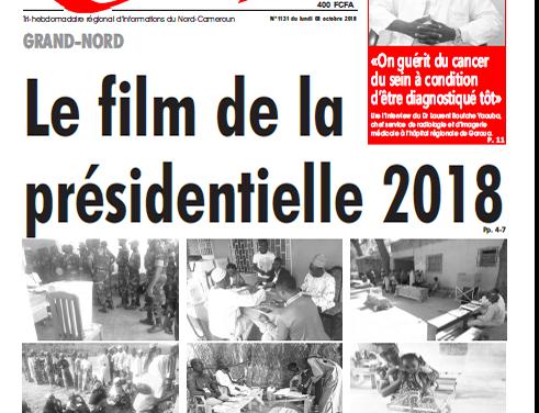 Cameroun : Journal l'œil du sahel parution 08 septembre 2018