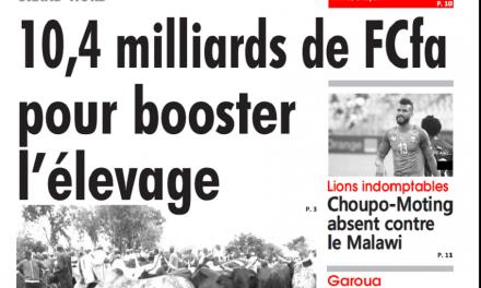 Cameroun : Journal l'œil du sahel parution 15 octobre 2018