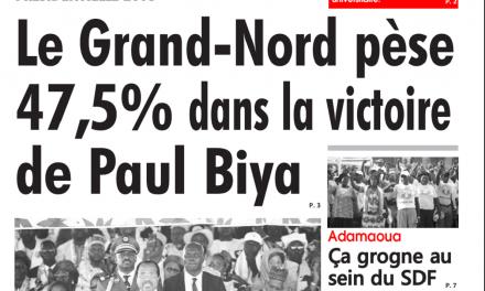 Cameroun : Journal l'œil du sahel parution 24 octobre 2018
