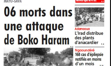 Cameroun : Journal L'oeil du sahel parution 28 septembre 2018