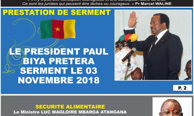 Cameroun: journal camerlex parution du lundi 29 Octobre 2018