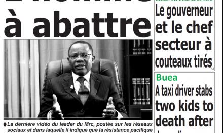 Cameroun : Journal Quotidien émergence parution 05 novembre 2018